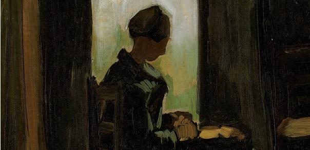 vincent_van_gogh_-_peasant_woman_seated_before_an_open_door_peeling_potatoes_1885